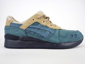 size 40 1e8a3 57037 Details about Junior Asics Gel Lyte III H6W0L 4646 Blue Mirage Leather  Casual Trainers