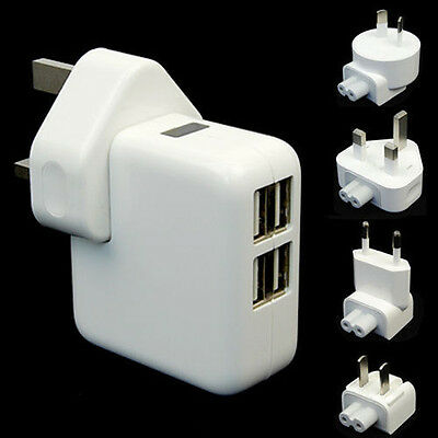 1/2/4USB Ports Wall AC Power Charger Adapter Home Travel For Ipod Samsung IPhone