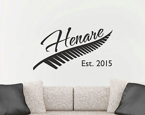 Image is loading Custom-Silver-Fern-Family-Name-Year-New-Zealand- : new zealand wall decals - www.pureclipart.com