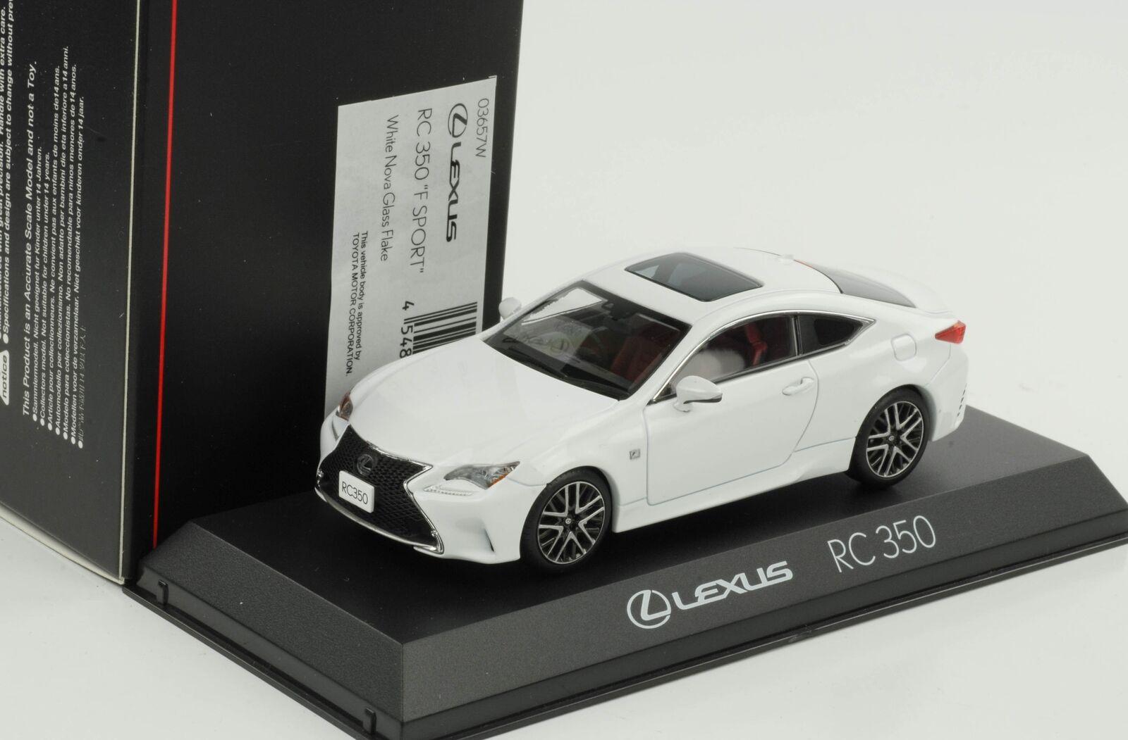 Lexus RC 350 350 350 F Sport White Nova Glass Flake 1 43 Kyosho diecast aaab64