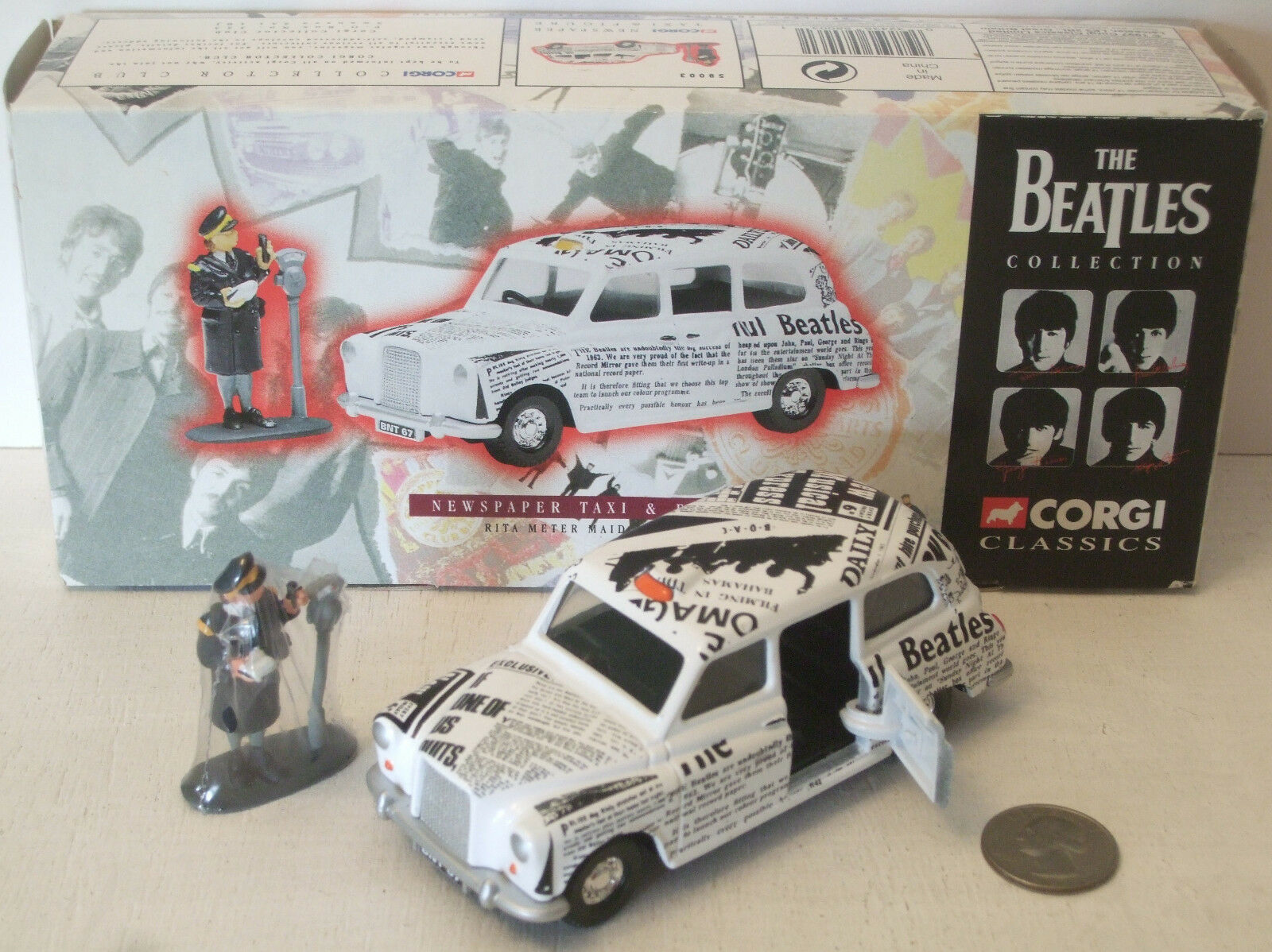 Corgi Beatles Newspaper Taxi & Rita Meter Maid & Meter NEW IN BOX (see photo)