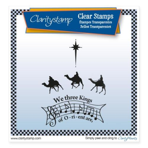 CLARITY STAMPS Set of Clear Stamps WE THREE KINGS of ORIENT ARE STA-CH-10432-A5