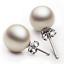Hermoso Clásico 925 plata esterlina pendientes de perlas Stud Novia boda Plt