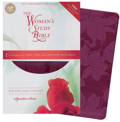 NKJV The Woman's Study Bible, Leathersoft, plum