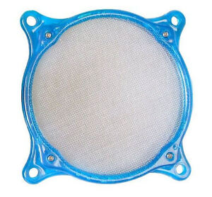 UV Blue 80mm Washable Stainless Steel Fan Filter