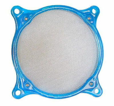 80mm Washable Stainless Steel Fan Filter, UV Blue