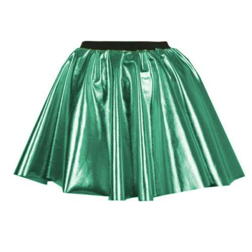 SUPERHERO Metallic Colour Dance Skirt Hen party Disco 50s Circle fancy dress
