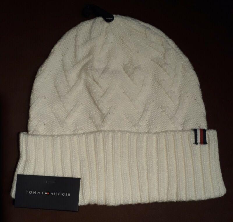 Tommy Hilfiger - Mütze Wollmütze Strickmütze Beanie Cap Hat Weiß / Neu Aus Usa