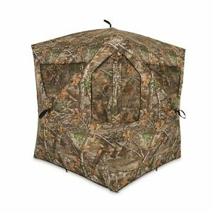 Ameristep Silent Brickhouse Ground Blind Mossy Break Up Country Outdoor Hunting