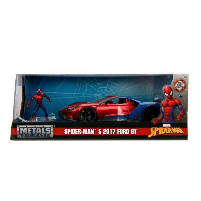 Jada Hollywood Rides Marvel Avengers Spider Man  Ford Gt   Scale