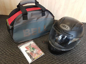BELL-MOTORBIKE-HELMET-FULL-FACE-MATTE-BLACK-MEDIUM-GOOD-CONDITION