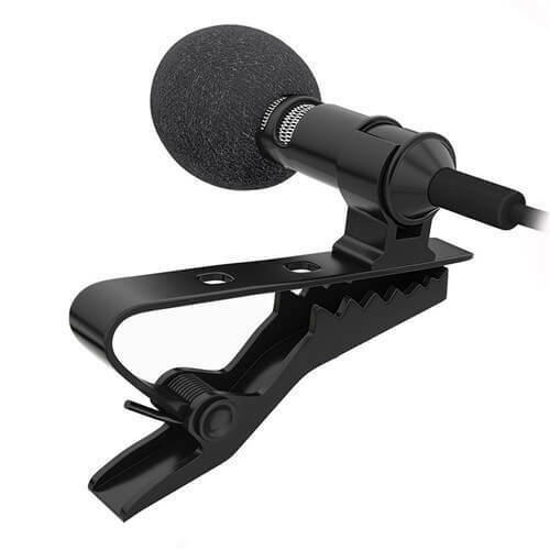 Good Clip-on Lapel Mini Lavalier Mic Microphone for Phone Recording PC US