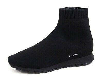 Prada Slip On Sock Sneaket Boots Black