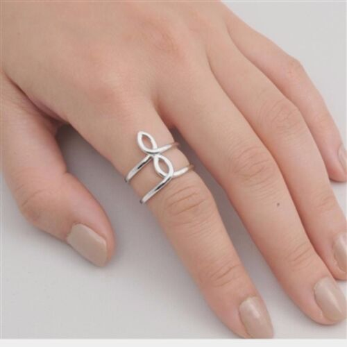 USA Seller Plain Row Ring Sterling Silver 925 Best Price Jewelry Selectable