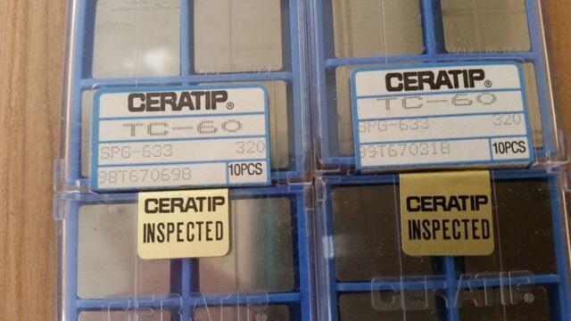 LOC2123D Ceratip Carbide Inserts Qty10 TNN 32ER18UN TC60