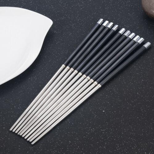HOT Reusable Chopsticks Metal Korean Chinese Stainless Steel Chop Sticks 1Pair