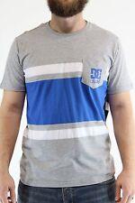 New DC SHOES Mens Rob Dyrdek Flyer T Shirt M Medium Heather Gray/Blue/White BW1