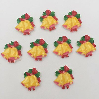 DIY 10pcs Resin hand painting Christmas wreath Flatback stone//Children scrapbook