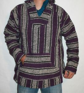 Image is loading 2XL,Baja,Hoodie,Hippie,Mexican,Surfer,Skater,Poncho,