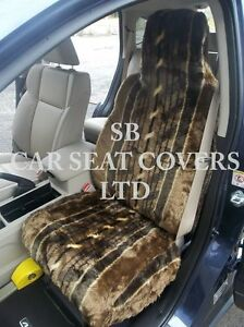 i-TO-FIT-A-MINI-CLUBMAN-CAR-S-COVERS-2-FRONTS-NUTMEG-STRIPE-FAUX-FUR