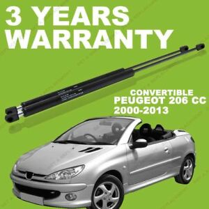 GAS TAILGATE SUPPORT STRUTS GS22 2000 ON 2X FOR PEUGEOT 206CC CONVERTIBLE