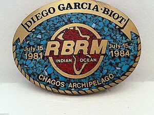 Raymond-Brown-and-Root-Mowlem-BIOT-Commemorative-Belt-Buckle-Free-shipping