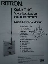 Ritron Rqt 450 Quick Talk Voice Notification Radio Transmitter Security Gmrs Uhf