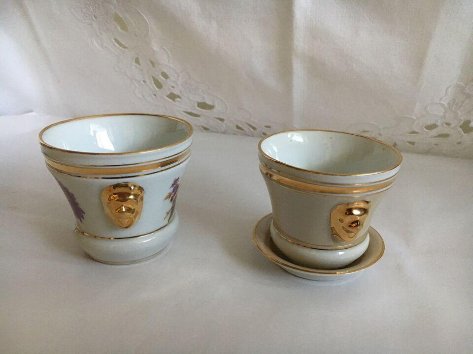 Andre samleobjekter, Urtepotter i porcelæn mini str