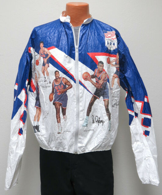 Pull over collection on ebay vtg dream team usa 1992 olympics large tyvek jacket basketball nba l gold 90s gumiabroncs Image collections