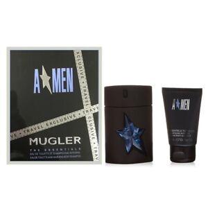 Detalles de Thierry Mugler A * men Angel para hombre Conjunto de Regalo con 100ml, Recargable EDT Spray ver título original