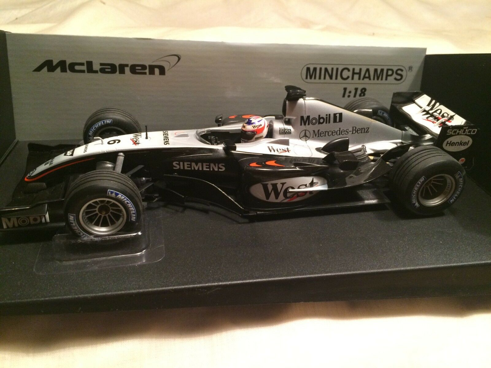 McLaren Mercedes MP4 19 West Team Edition Raikkonen Minichamps 1 18 scale