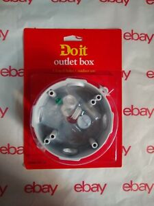 LOT OF 3 Bell GREY Weatherproof Electrical Round Box Cover 4-1//8 In 537497