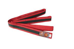 Ju-Sports Budo-Gürtel rot/schwarz/rot  Karate, Judo, Ju-Jutsu, Taekwondo