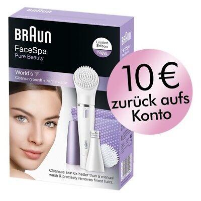 Braun Epilierer und Reinigungsbürste Face 832N in lila für Gesicht