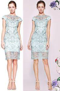 cf03dd37 Image is loading 410-Tadashi-Shoji-Abigail-Embroidered-Metallic-Lace- Illusion-