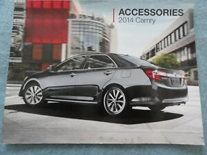 Toyota Camry Accessories >> Details About 2014 Toyota Camry Accessories Guide Owners Manual Supplement