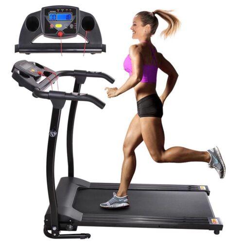 1100W Folding Electric Treadmill Portable Motorized Machine Running Gym Fitness