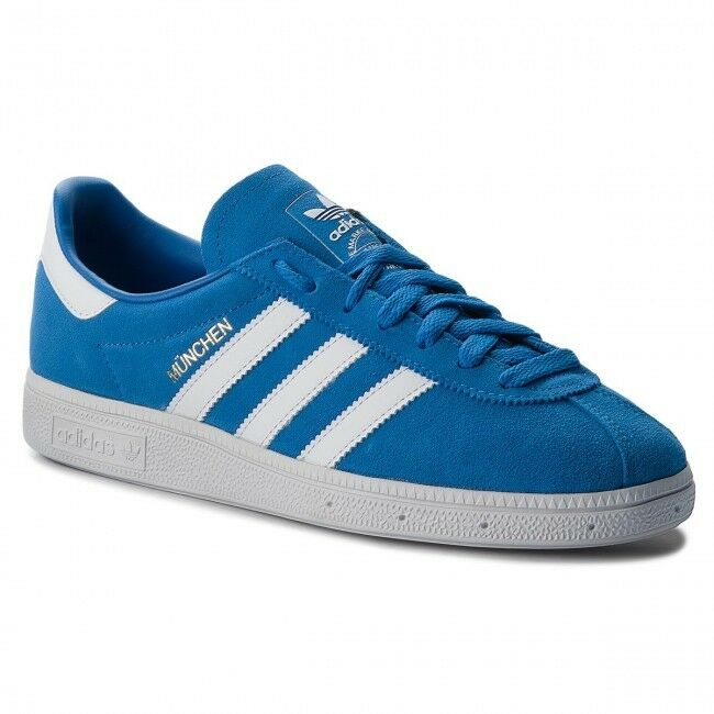 Adidas Originals Munchen Blaubird Weiß Mens Trainers UK 7 BRAND NEW