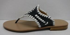 Jack-Rogers-Size-5-Blue-Leather-Sandals-New-Womens-Shoes