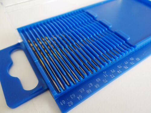 20pc Haute Vitesse Acier Micro Drill Bit Set Wire Gauge Index 61-80//0.3-1.6mm dans boîtier en plastique