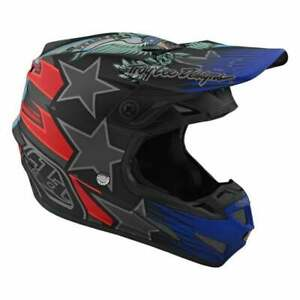 Troy Lee 2020 Adults SE4 Composite Motocross MX Helmet - LE Liberty - Black