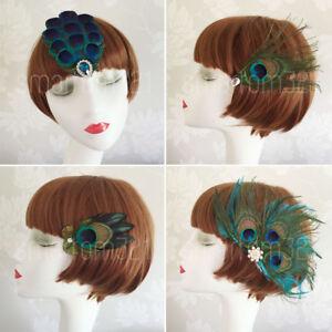 Multi colour  Feather Fascinator Hair Clip Wedding Party Vintage Headpiece uk