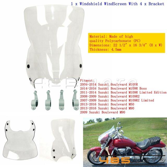 Motorbike Racing Windscreen Windshield for 06-16 Suzuki Boulevard M109r US  Stock