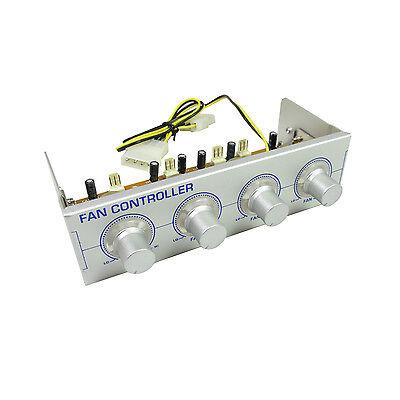 EYE-T 4 Channel Multi Colour LED Adjustable Fan Speed Controler 5.25 Bay - Silve