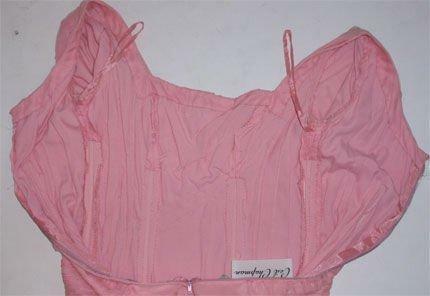 CEIL CHAPMAN 1960s Pink Chiffon Bodice Cocktail D… - image 6