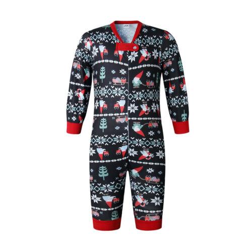 Pyjamas Christmas Family Matching Set Xmas Sleepwear Mens Womens Baby Newborn