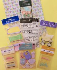 LOT 7 Packs Baby Newborn GIRL or BOY Scrapbooking Stickers Embellishments Accent