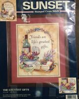 Sunset Stamped Cross Stitch The Greatest Gifts Wine Kit