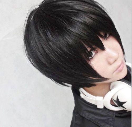Hitman Reborn Hibari Kyoya Black Short Cosplay Party Hair Wig Z05