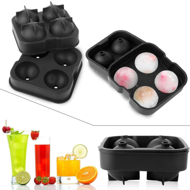 Round Ice Ball Maker Sphere Tray Silicone Mold Cube for Cocktails Whiskey